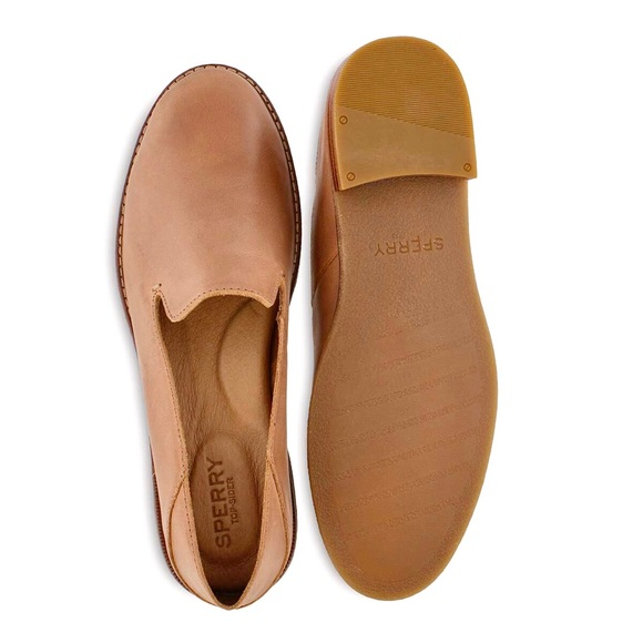 Sperry Seaport Levy Loafer in Tan Leather